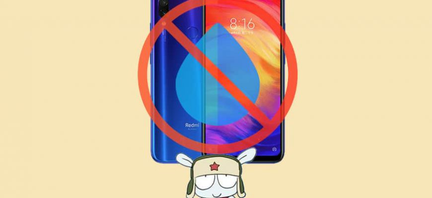Влагозащита в Redmi Note 7