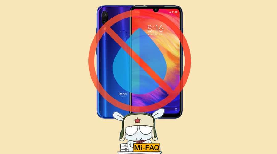 Влагозащита в Redmi Note 7
