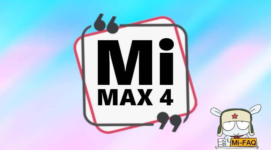 Дата выхода Xiaomi Mi Max 4