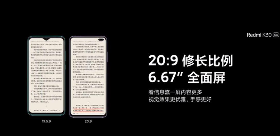 Redmi K30 экран